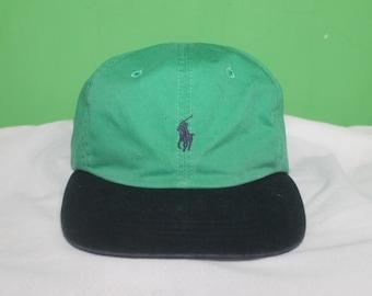 Vintage 90s Polo Ralph Lauren Two Tone Cap Hat
