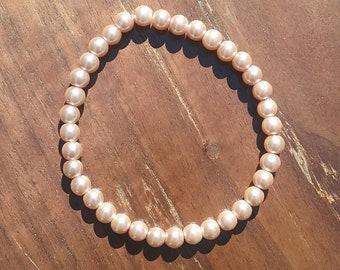 Rose Gold Pearl Bracelet