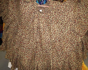 Leopard 25Yard Multicolor Tribal TyeDyed Gypsy Layer Beautiful ATS Skirt~