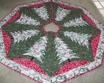 Quilted Christmas Tree Skirt #85 Reversible