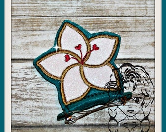 ASIAN PRinCESS FLoWER Center (Add On ~ 1 Pc) Mr Miss Mouse Ears Headband ~ In the Hoop ~ Downloadable DiGiTaL Machine Emb Design by Carrie