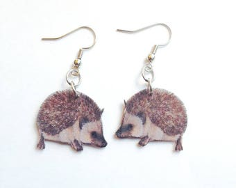 Handcrafted Plastic Hedgie Hedgehog Earrings