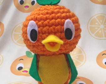 Amigurumi Orange Bird plush doll