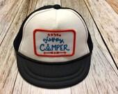 Unisex Infant Trucker Hat- Happy Camper Patch- 0-6 Mont...