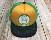 """Toddler Trucker Hat with """"I Like Bikes"""" Patch..."""