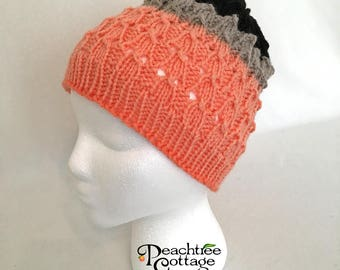 Hand Knit Hat, Lace Slouch Hat, Soft Knitted Hat, Cloche Hat, Slouchy Beanie, Knit Toque, Winter Hat, Lace Hat - Ready to Ship