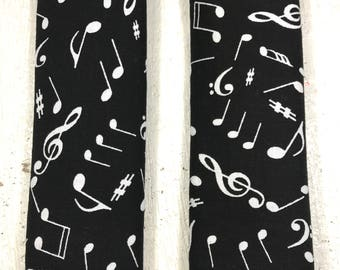 Music Notes Baby Seat Belt Covers - Infant - Car Seat Accessory - Strap cover -stroller - baby boy - baby girl