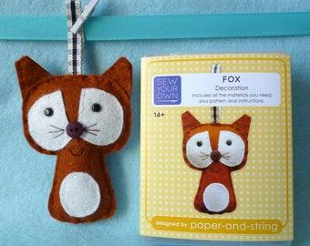 Fox Mini Kit - Felt sewing kit