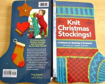 Knit Christmas Stocking Book - 19 Patterns for Stockings & Ornaments - Holiday Stocking Knitting Patterns - Christmas Ornament Knit Patterns