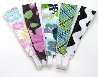 Clearance - Sale - Gift - Gracie Designs Headbands - 5 pack - florals and plaids