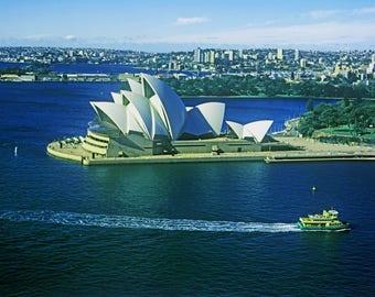 Sydney Australia Opera House and Manley Ferry