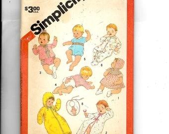 Simplicity  Babies' Layette Pattern 6383