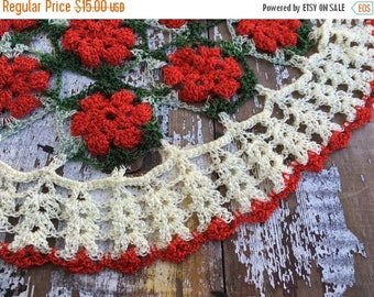 SALE- Vintage Christmas Embroidery-Needlework Pieces-Flea Market Chic