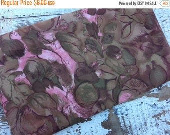 SALE- Vintage Floral Fabric- Brown and Pink