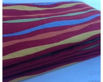 SALE- Wavy Stripes Fabric-Reclaimed Curtain Fabric