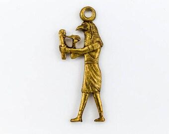 25mm Raw Brass Thoth Charm #CHA006
