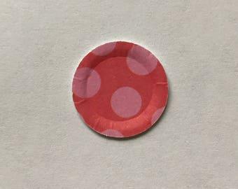 Miniature paper plate 5 - set of 10