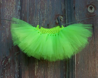 Size Newborn to 2T Baby or Small Dog Neon Yellow Tutu Ballerina Halloween Costume
