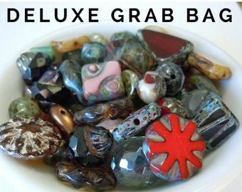 25% OFF Sale Grab Bag 30 Gram Premium Picasso Bead Assortment from Mountain Shadow Designs