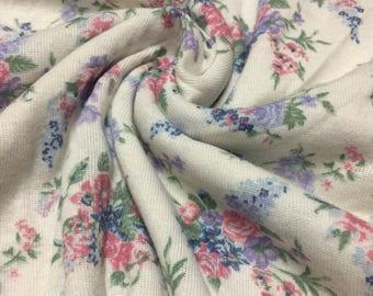 Floral Ribbed Knit Fabric 1-3/4 Yard