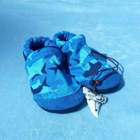 Sharks: Soft Sole Baby Shoes 18-24M