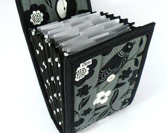 Circular Needle Case - Blackbird- Needle Holder Needle Wallet Circular Needle Organizer Organiser Gray