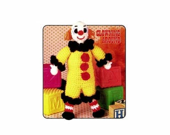 SALE Tiny Tom Clown Doll Clowning Around Crochet Pattern Annies Pattern Club