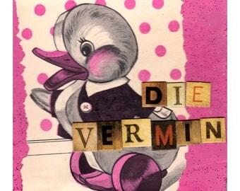 Die Vermin #2 {Original Collage}