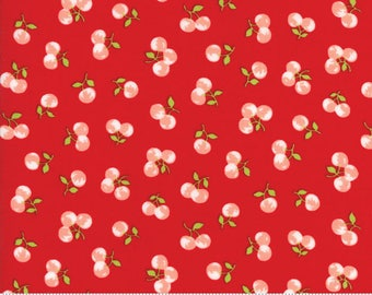 The Good Life - Orchard in Red: sku 55158-11 cotton quilting fabric by Bonnie and Camille for Moda Fabrics