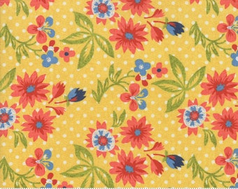 Biscuits and Gravy - Grow Daisies in Basket Yellow: sku 30481-13 cotton quilting fabric by BasicGrey for Moda Fabrics