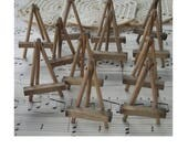 """Vintage Small Handmade 2"""" Wooden Easels by the Dozen"""