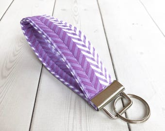 Purple  Wrist Strap Keychain Gift For Her Coworker Gifts Key Fob Keychain Coworker Gifts Key Holder Wrist Lanyard Key Wristlet