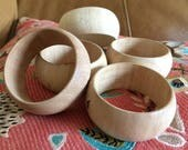 Raw Natural Wood Bracelet Blanks Cuffs Crafting Unfinished Wooden Bangles Big Lot of 5