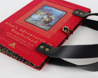 Book Purse - Alice in Wonderland- made from recycled vintage book by Rebound Designs