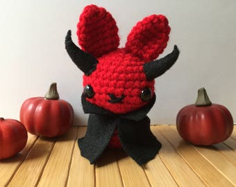 Devil Moon Bun - Bunny Rabbit Amigurumi - October Create a Day Challenge Doll