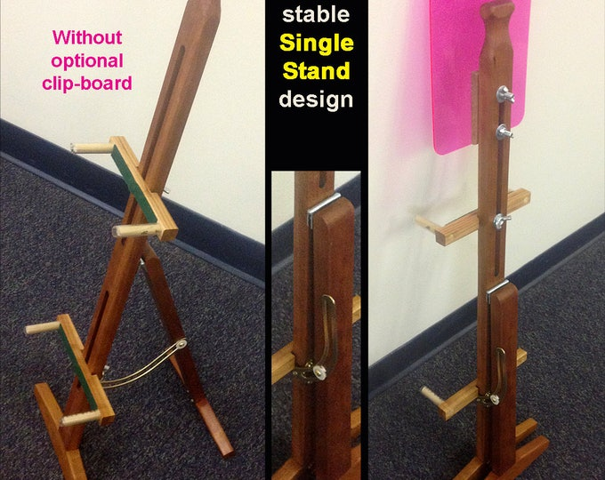 New hand-Made Mountain Dulcimer Folding Stand With Optional Clipboard
