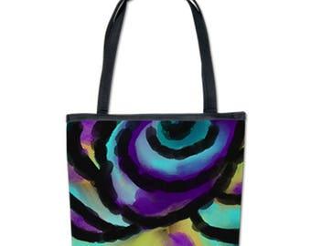 Original Abstract Art Shoulder Bag Handbag Purse My Colorful Abstract Digital Painting