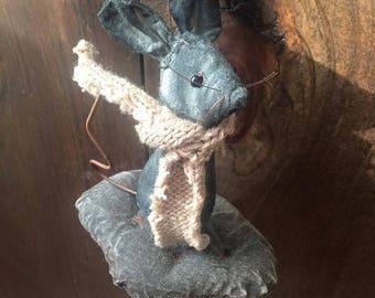 CustomerAppreciationSale Primitive Mouse on a Cookie Ornament