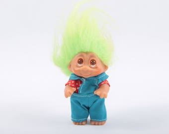 Farmer Troll, Overalls, Country, Vintage Collectible, Norfin, Russ, Dam ~ The Pink Room ~ CC004