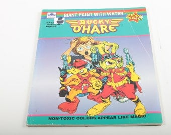 bucky o hare vintage coloring book giant paint with water easy tear out - Vintage Coloring Books