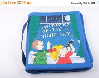 Wonders of the Night Sky, Vintage Children's, Book, Fabric, Baby Book, Constellations ~ The Pink Room ~ 160917