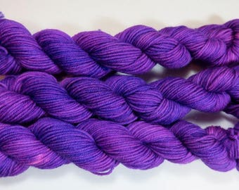 Handpainted Superwash Merino/Nylon 4-ply Sock Yarn -- FrankenPurple