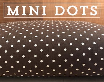 Dog Bed Cover, Mini Polka Dot Cover, Available in 14 Colors, Dog Bed Duvet, Pet Bed Cover, Cat Bed Cover, Small to XL Covers for Dog Beds