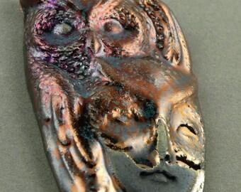 Raku Owl Guardian Faery