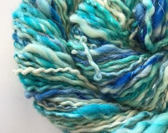 Handspun Yarn 191 Yards Merino and Silk Blend Hand Dyed