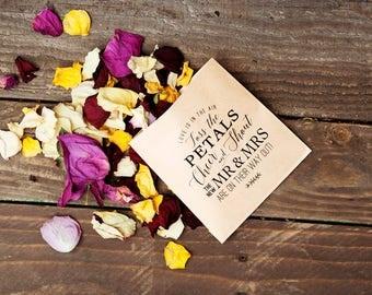 Rush Wedding Petal Toss Bag - Kraft Paper Favor Bags - Cheer and Shout! -  Flower Petal Toss - 20 Kraft Bags - Quick Processing