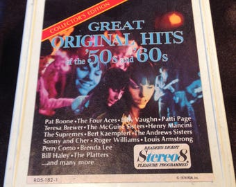50's and 60's Great Original Hits -  8 Track Tape Free Shipping