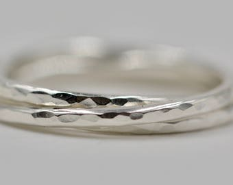 Hammered Silver Russian Wedding Ring Trinity Ring Intertwined Ring Russian Wedding Band
