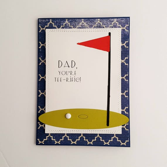 Tee-rific Dad Father's Day Card Golf Themed Father's