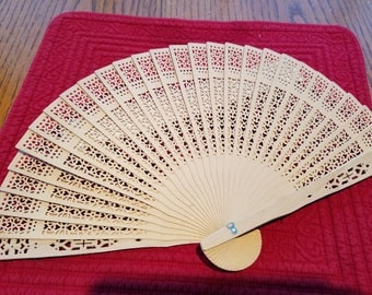 10 Wooden Fans Laser Cut Unfinished